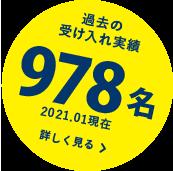 過去の受け入れ実績970名