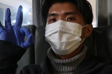 中国に帰国した学生さんから写真が送られてきました