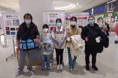 中国人学生の皆さんが帰国いたしました