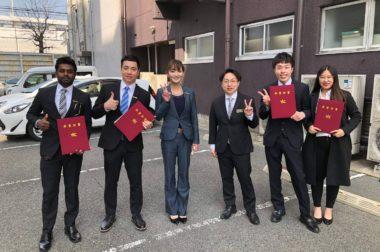 「YICビジネスアート専門学校」の沖縄でのインターンシップに参加した留学生が卒業いたしました